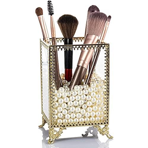 INS Nordic Maquillaje Pincel de Almacenamiento Cubo de Almacenamiento Lápiz de ceja Lápiz Belleza Caja de Almacenamiento Caja de Almacenamiento Escritorio Vidrio a p