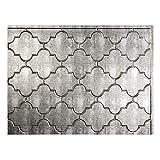 FASÄDE Monaco Decorative Vinyl Backsplash Panel in Crosshatch Silver (One 18' x 24' Panel)