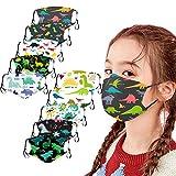 Pañuelo multifunción para niños, tela de algodón transpirable con impresión 3D de dibujos animados, lavable, diseño de boca