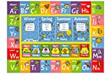 KC Cubs Playtime Collection ABC Alphabet, Seasons, Months and Days of The Week Educational Learning Area Rug Carpet for Kids and Children Bedrooms and Playroom (5' 0' x 6' 6')