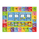 """KC Cubs Playtime Collection ABC Alphabet, Seasons, Months and Days of the Week Educational Learning Area Rug Carpet For Kids and Children Bedrooms and Playroom (8' 2"""" x 9' 10"""")"""