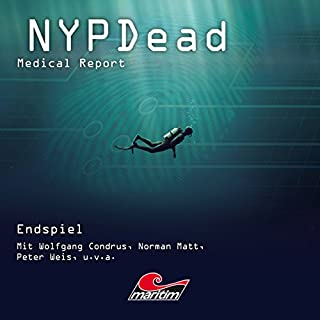 Endspiel     NYPDead - Medical Report 7              Autor:                                                                                                                                 Andreas Masuth                               Sprecher:                                                                                                                                 Wolfgang Condrus,                                                                                        Norman Matt,                                                                                        Peter Weis,                   und andere                 Spieldauer: 45 Min.     8 Bewertungen     Gesamt 4,6