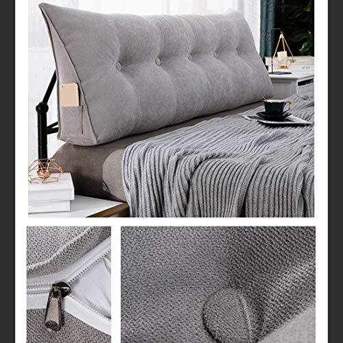 ZYFA Rückenkissen Keilkissen für Couch und Sofa, Dreieckige Keil Kissen Lesekissen bequemes Sitzen für Bett Grosse Kopfteil Kissen Rückenstütze Rückenlehne Palettenkissen