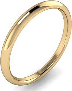 Best 18k solid gold wedding band Reviews