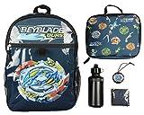 Beyblade Burst Spinner Tops Backpack Lunch Bag Water Bottle Ice Pack 5 PC Mega...