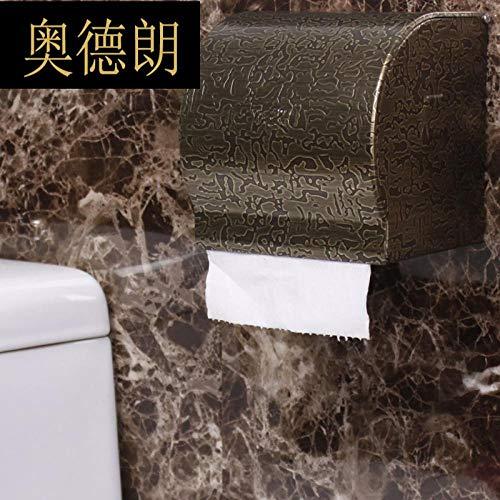 Joeesun Edelstahl Titanium kleine Rolle papierhalter Hotel wc Familie wc wasserdichte Tissue Box-Oracle Muster qinggu (e10q kein fingerabdruck)