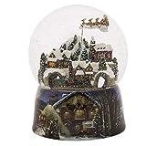 Roman 37753 Glitterdomes Snow Globe 150mm Musical with Santa in Sleigh, 8 Inch