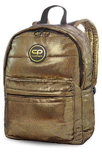 COOLPACK Schulrucksack Rucksack Ruby Glamour Vintage Gold 41 x 29 x 13 Backpack Glitter Mädchen Jugendliche Teenager