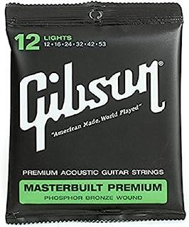 Gibson Gear SAG-MB12 Masterbuilt Premium Corde per Chitarra Acustica Rivestite in Fosforo e Bronzo, Super Ultra Sottili 12-53