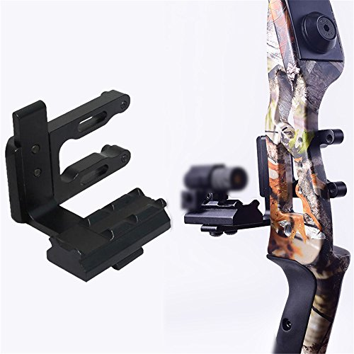 e5e10 Archery CNC Bow Sight Scope Picatinny Bracket Mount for Hunting Red Dot Sight Reflex Sight Fits Compound Bow Recurve Bow