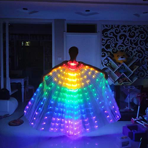 Schmetterling Flügel Frauen Ballettkleid, Mädchen Flügel Bauchtanz Kostüme 360 Grad Sticks Leistung Tanzen Zubehör Props