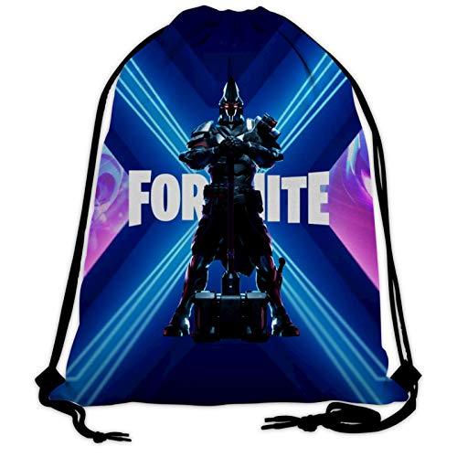 Epic Games Fortnite Rucksack mit Kordelzug, große Größe, Sport, Fitnessstudio, Rucksack für Männer und Frauen