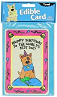 Crunchkins Edible Crunch Card, Birthday, World's Best Dog by Crunchkins