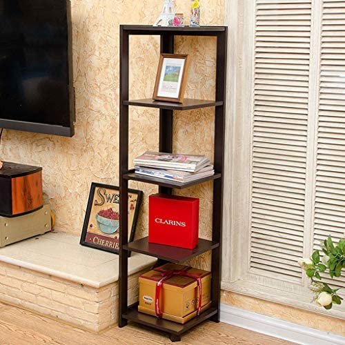 Bücherregal Massivholz Speicherorganisator Regal, Utility Blaume Stand Decor Display Rack, für Schlafzimmer Badezimmer Wohnzimmer Küche (2 Farben)