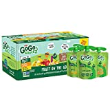 GoGo squeeZ Fruit on the Go Variety Pack, Apple Apple, Apple Banana, & Apple Mango, 3.2 oz. (20 Pouches) - Tasty Kids Applesauce Snacks - Gluten Free Snacks for Kids - Nut & Dairy Free - Vegan Snacks