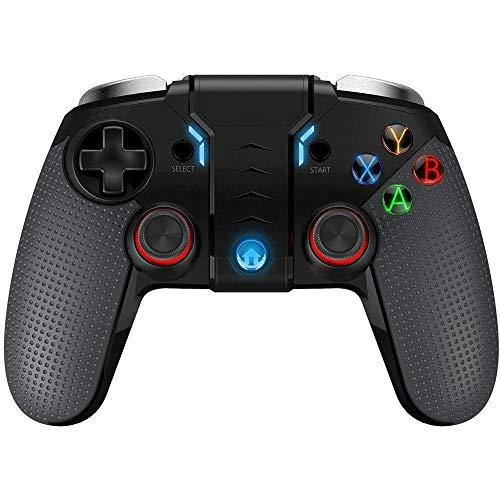 Big Shark Wireless Gamepad, contrôleur de Jeu Mobile, Wireless Gamepad Compatible avec iOS Android Mobile PC Double Vibration du Moteur