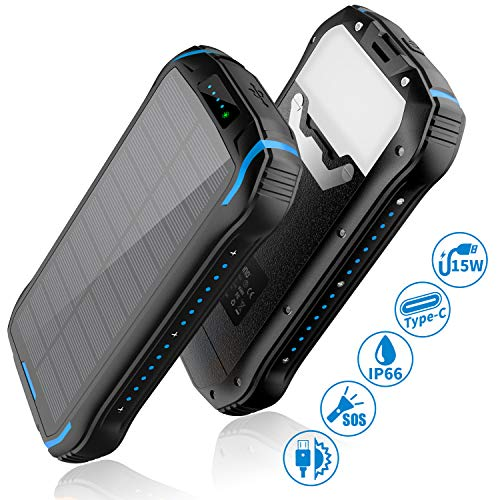 Aonidi Solar Charger 26800mAh Power Bank Portable Charger Battery review