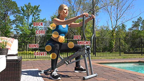 Product Image 6: Star Uno Ab Squat Workout Machine – Assist Squat Exercise and Glute Workout to Tone and Firm Muscles, Grey, Model:7827-080-001
