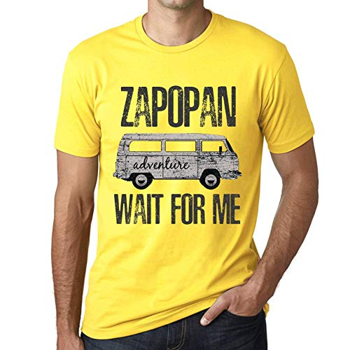 One in the City Hombre Camiseta Vintage T-Shirt Gráfico Zapopan Wait For Me Amarillo