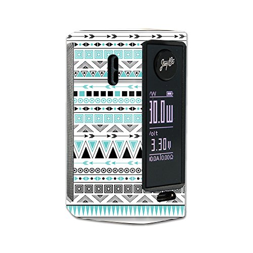MightySkins Skin Compatible with Wismec Reuleaux RX Mini – Turquoise Tribal | Protective, Durable, and Unique Vinyl Decal wrap Cover | Easy to Apply, Remove, and Change Styles | Made in The USA