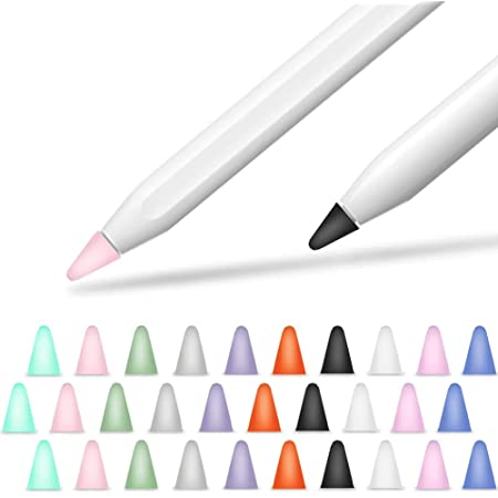 Blau, Schwarz, Grau, Wei/ß Generation und 2 Delidigi 40 Pack Tips Abdeckung Silikon-Federkappen Zubeh/ör Kompatibel mit iPencil 1