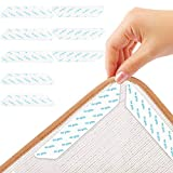 ITME 8 Pcs Pinzas para alfombras para Suelos de Madera, Pinzas Antideslizantes para Suelos de Madera, utilizadas para la fijación Antideslizante de alfombras, tapetes y tapetes para sofás (Blanco)