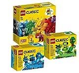 LEGO Classic - Juego de 3 piezas (11001, 11006 azul y 11007)