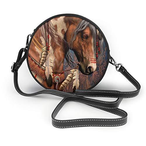 Schultertasche für Damen, Motiv: American Civil War, - Spirit Indian War Horse - Größe: Einheitsgröße