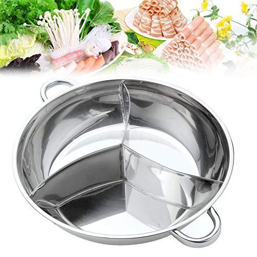 Olla caliente de acero inoxidable, utensilios de cocina de tres puntos, olla caliente, utensilios de cocina compatibles con grano recto, fiesta de invierno,32cm