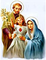 DMFNGJSD 数字油絵 フレームレス 、数字キット塗り絵 手塗り DIY絵-宗教的なイエスの家族-デジタル油絵 40x50 cm