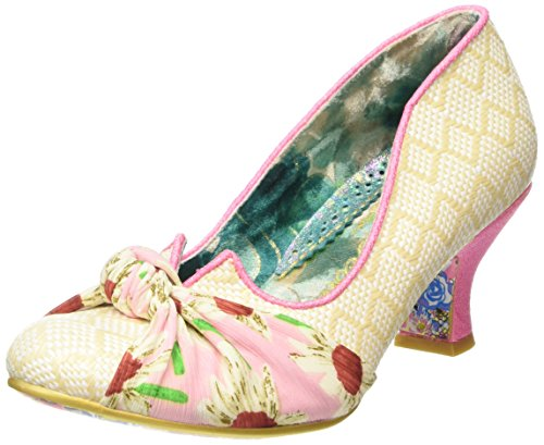 Irregular Choice Dazzle Pants - Tacones Mujer, color rosa - pink (cream/pink), talla 39 EU (6 UK)