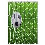 Custom Soccer Fußball Fenstervorhang Vorhänge Polyester Curtain 52' x 63'about 132cm x 160cm, 1 Stück