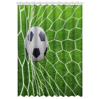 Custom Soccer Fußball Fenstervorhang Vorhänge Polyester Curtain 52