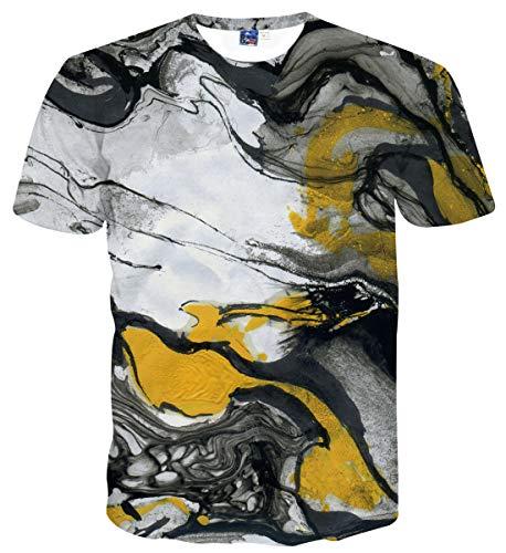 Sykooria Men's T-Shirt Unisex 3D Printed Pattern Summer Casual Novelty Short Sleeve Tee Shirts Tops S - XXL