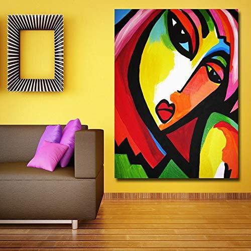 Modern schilderij, decoratief, abstract, modern, abstract, schilderij op canvas, abstract schilderij