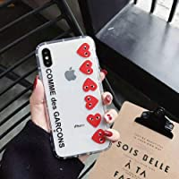 Comme Des Garcons CDG Jugar Suave de Silicona Caso Cubierta para el iPhone 6 7 8 x XS MAX XR