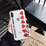 yanmeishop CDG Play Comme des Garcons Soft Silicone case Cover for iPhone 6 7 8 X XS MAX XR