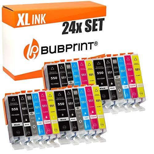 24 Bubprint Druckerpatronen kompatibel für Canon PGI-550 CLI-551 XL für Pixma IP7220 IP7240 IP8700 IP8720 IP8750 MG6300 MG6350 MG6420 MG7100 MG7120 MG7150 MG7500 MG7550 Multipack