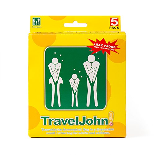 TravelJohn Disposable Vomit/Urine Bag for Children and Adults 5 Pack