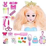 Pipix 25 cabezas de muñeca para niños de estilismo y maquillaje, seguros e innovadores.