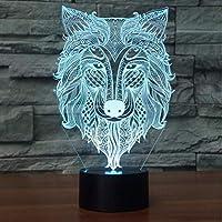 フクロウ3Dナイトライトハロウィーン雰囲気ランプ3DバルブライトタッチSwithcカラフルなデスクテーブルランプ