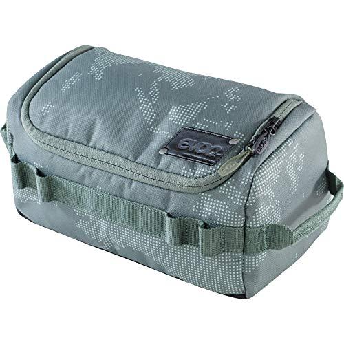 EVOC WASH BAG Kulturtasche Kulturbeutel für den Reisealltag (Organiser-Fächer mit individueller Raumteilung, herausnehmbarer Taschenspiegel, integrierter Haken zum Aufhängen), Olive