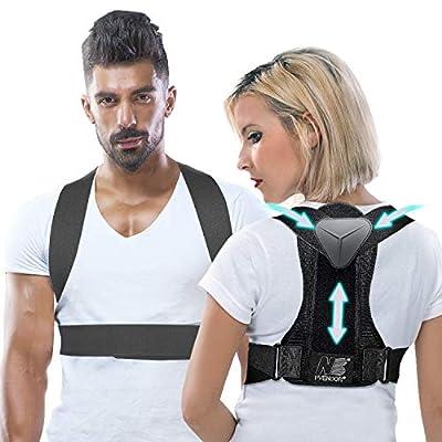 Posture Corrector for Women and Men, Adjustable Back Brace for Back Support and Neck Shoulder Brace Belt, Pain Relief and Improve Posture Back Straightener L(2020 Upgrade) from Pvendor