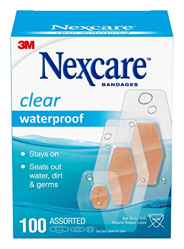 Nexcare Waterproof Bandages, Hypoallergenic, Family Pack, 100 Count, Assorted Sizes