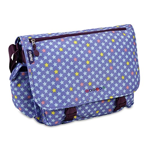 J World New York Terry Messenger Bag for Women. Girls School Kids, Stardust