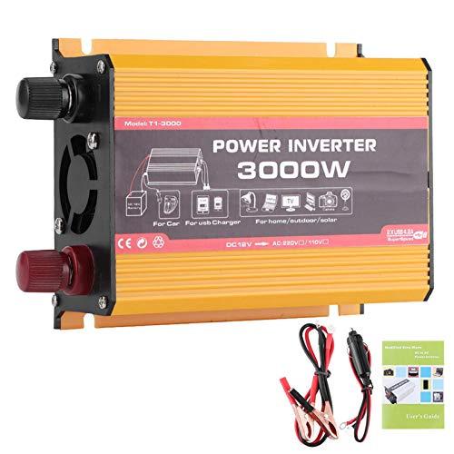 Car Power Converter Car Inverter 3000W Dual USB Auto Power Converter Modified Sine Wave Transformer(DC12V-AC110V)