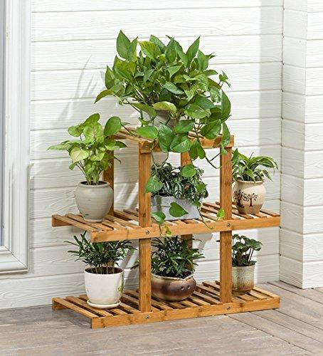 Qi Peng Jardinière en bois massif, balcon, petite jardinière, salon, jardinière multicouche, anti-corrosion, facile d'entretien 4 tailles disponibles Etagère (taille : 64x60cm)