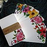 50 Uds tarjetas de felicitación hechas a mano con mensaje de flores, tarjeta de papel para álbum de recortes, tarjetas de felicitación DIY, tarjetas postales para fiestas