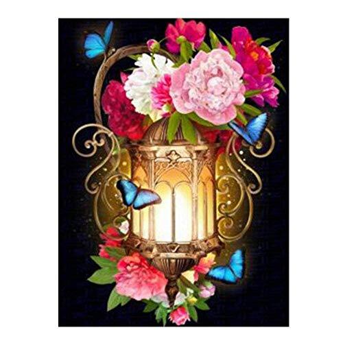 KaiKai 5d DIY Diamond Painting Flowers Diamond Embroidery Full Set Picture of Rhinestones Home Decoration Cross Stitch Kits -Size:_70x50cm_Square_Drill (Color : Size: 70x50cm Square Drill)