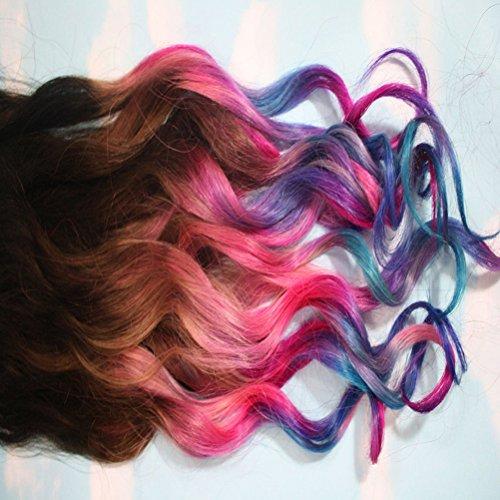 Tinksky 36 colores de pintura de DIY no tóxico temporal del cabello Pastel Color tinte tizas